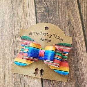Multicolored Boho Hair Bow